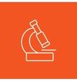 Microscope line icon vector image