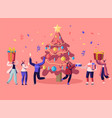 new year bash happy people celebrating party vector image vector image