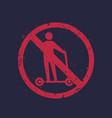 no kick scooter sign vector image vector image