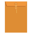 Orange sealed envelope vector image vector image