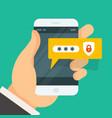 password entering on smartphone - smart phone vector image vector image