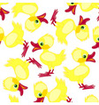 pattern from duckling vector image vector image