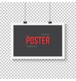 Poster Mockup Realistic EPS10 Paper vector image vector image