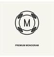 Premium art deco monogram design element vector image vector image