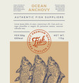 river fish abstract packaging design or vector image