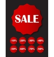 Sale Sticker Banner Template Set vector image vector image