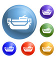 school lunchbox icons set vector image vector image
