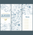 seafood banner template set can be use for vector image vector image