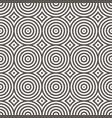 seamless pattern geometric circle vector image vector image