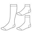 set blank socks vector image