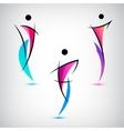 set line man human shapes use vector image