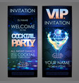 set of disco background banners cocktail party vector image vector image