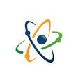 set satellite web rings orbit planet logo tech vector image vector image