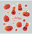 set stickers for halloween vector image