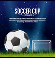 soccer cup banner vector image