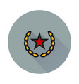 socialism communism icon on round background vector image vector image