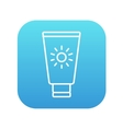 Sunscreen line icon vector image