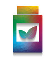 supplements container sign colorful icon vector image