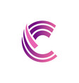three stripes purple c interrupted in half vector image