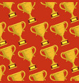 trophy cups sports pattern vector image