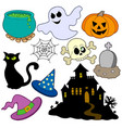 various halloween images 2 vector image