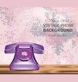 vintage retro phone realistic detailed 3d vector image