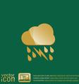 weather icon cloud rain lightning sign vector image