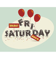 Weekend Coming - Funny style vector image