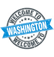 welcome to Washington blue round vintage stamp vector image vector image