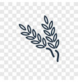 wheat concept linear icon isolated on transparent vector image