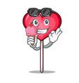 with ice cream heart lollipop character cartoon vector image