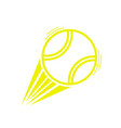 yellow tennis ball move vector image vector image