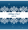 Winter card with ornaments vector image