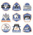 colorful vintage sport recreation emblems set vector image