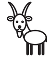 Cute animal goat - vector image