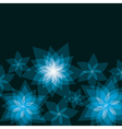 Abstract floral background with flowers lily vector image