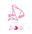 Abstract structure of triangles vector image vector image