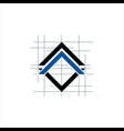 architect and construction home design logo vector image vector image