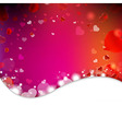 Background From Blur And Hearts vector image vector image
