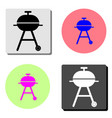 barbeque flat icon vector image