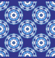 blue seamless ceramic tile design pattern vector image vector image