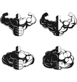 Bodybuilder posing vector image vector image