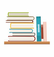 books with bookshelve isolated on white background vector image vector image