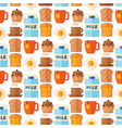 breakfast healthy food meal icons seamless pattern vector image vector image