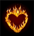 Burning heart vector image vector image