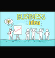 business idea image on blue vector image vector image