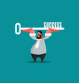 business success concept vector image vector image