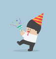 Businessman happy in celebration party vector image