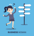businesswoman front a choice vector image