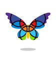 Butterfly mosaic isolated with drop shadow White vector image vector image